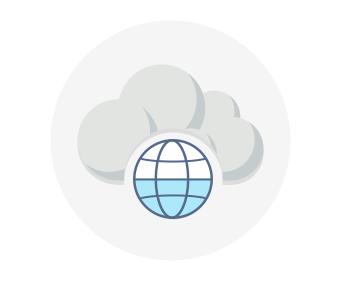 Globe representing multiple datacenters